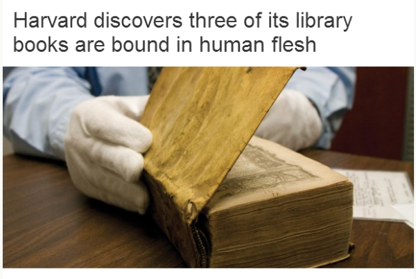 Books Made From Human Flesh