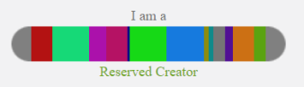 i am a reserved creator